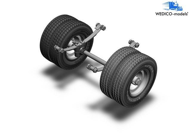 Hinterachse für Standard-Fahrgestelle zwillingsbereift