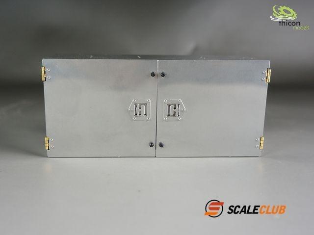 1:14 Staubox 141mm mit Doppeltüren V2A