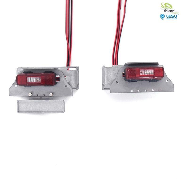 1:14 Rückleuchten für VOLVO mit LED und Halter v2