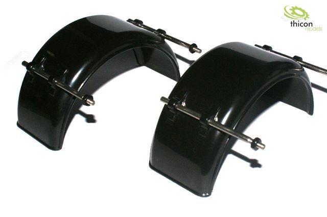 1:14 Kotflügel breit Kunststoff schwarz mit Halter Paar