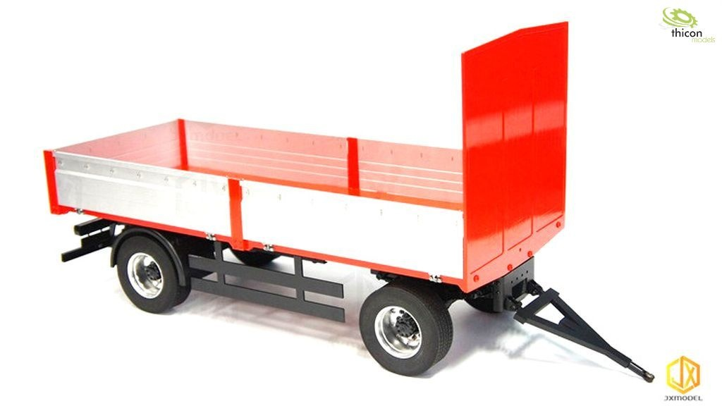 1:14 trailer 2-axle with flatbed