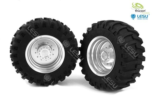 1:16 rear pair of tractor rims
