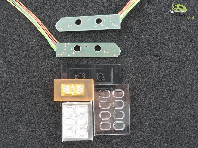 LH6MB Actros/Arocs Rücklichtplatine für 7,2V bis12V