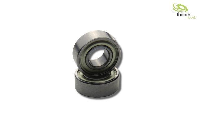 Kugellager 5x8x2,5mm mit Flansch und Staubschutzring Metall