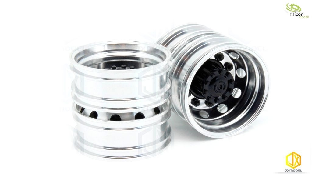 1:14 alloy wheels for rear drive axle pair
